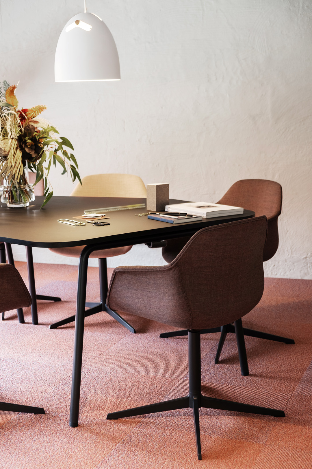 modern office furniture in neutral colours