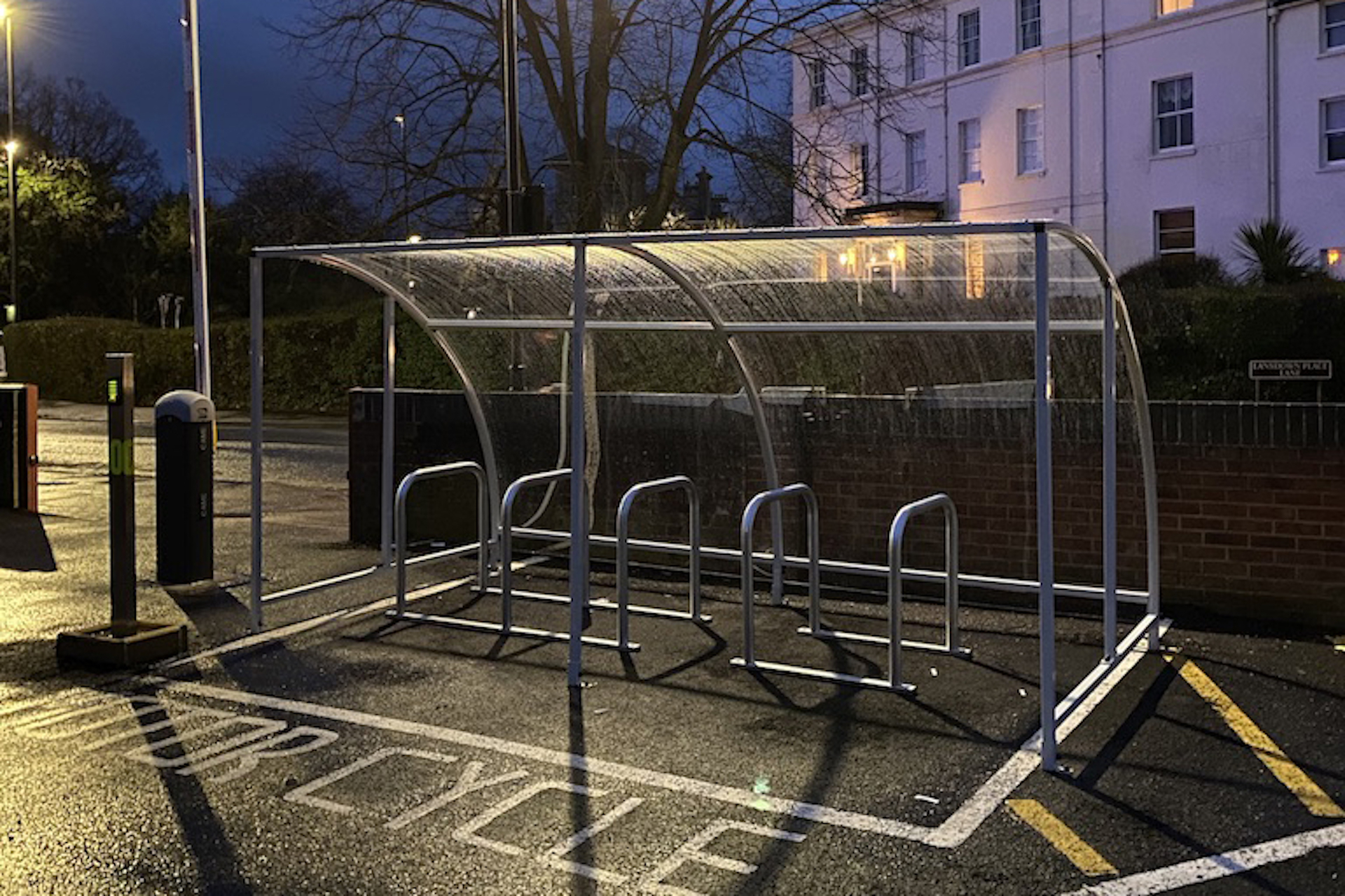 office car park and outdoor facilities